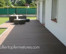 terrasse bois composite noir 1
