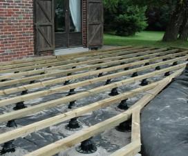 terrasse bois composite sur plots 1