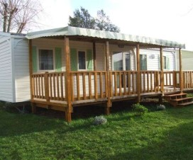 terrasse bois mobil home occasion 1