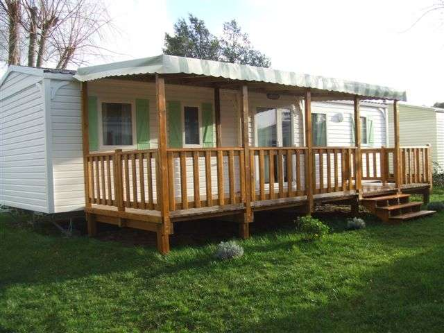 Terrasse bois mobil home occasion - Mobil home dans son jardin ...