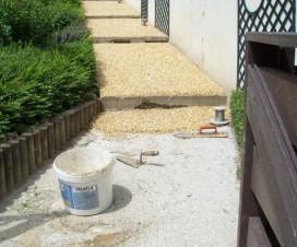terrasse en gravier resine 1