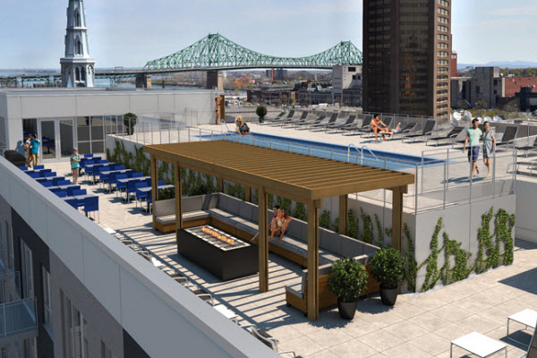 Terrasse piscine montreal for Cloture piscine montreal