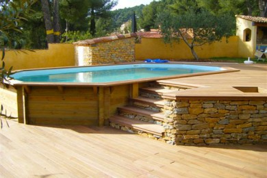 Terrasse surelevee piscine hors sol - Terrasse bois piscine hors sol ...
