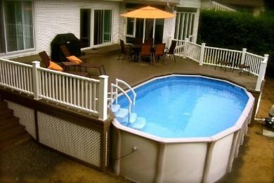 Terrasse autour d une piscine hors sol for Peut on enterrer une piscine hors sol en bois