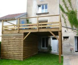 terrasse bois a l etage 1