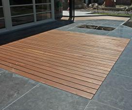 terrasse bois composite et pierre bleue 1