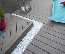 Terrasse suspendue piscine - Composite imitation bois ...