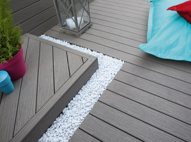 Terrasse composite imitation bois