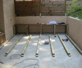 Terrasse bois composite sur plots - Terrasse bois sur dalle beton ...