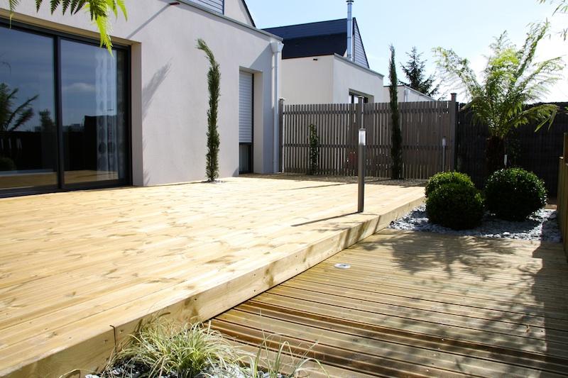 Terrasse bois vannes for Cout terrasse en bois