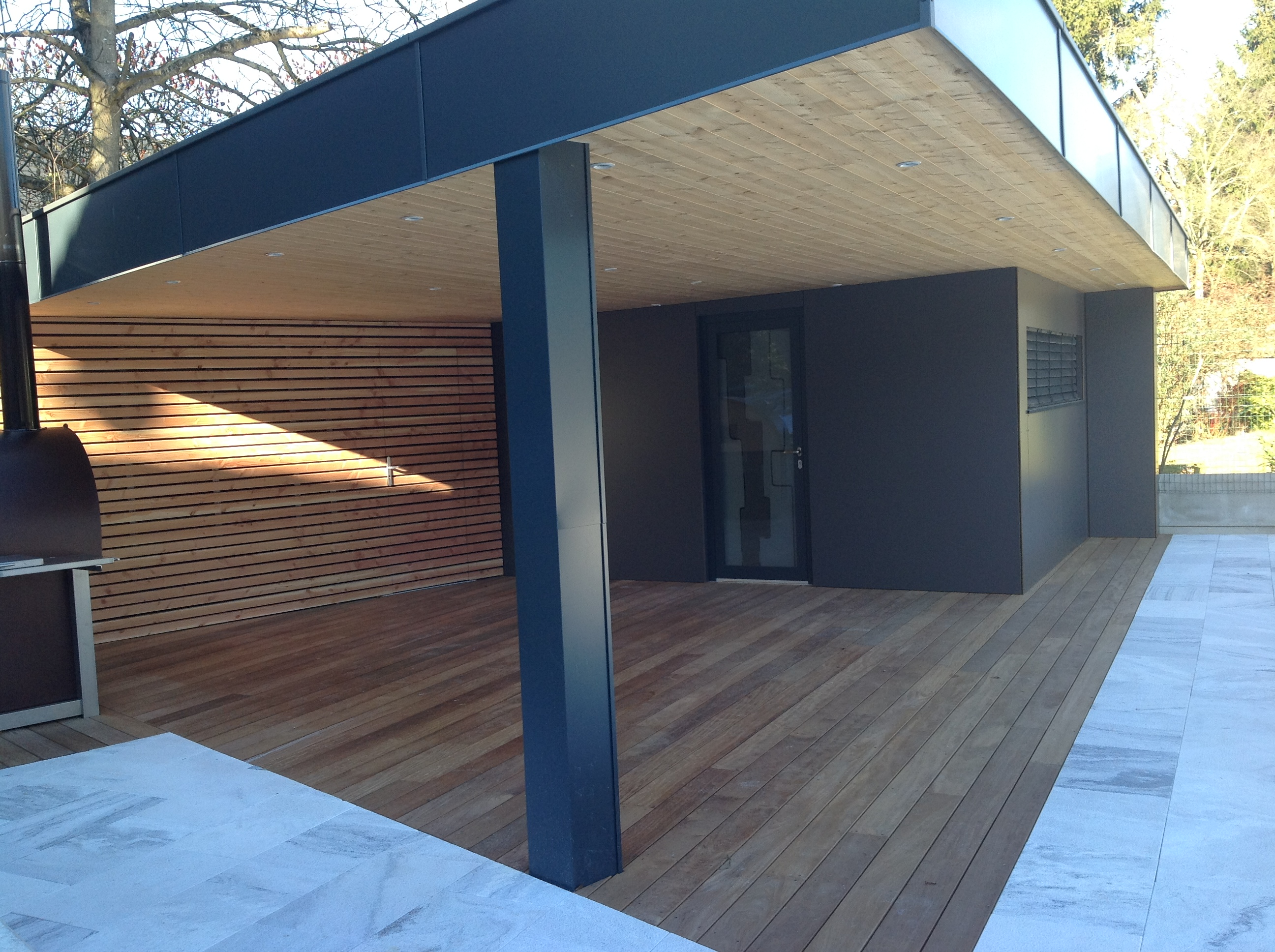 Terrasse bois ossature - Terrasse couverte bois ...