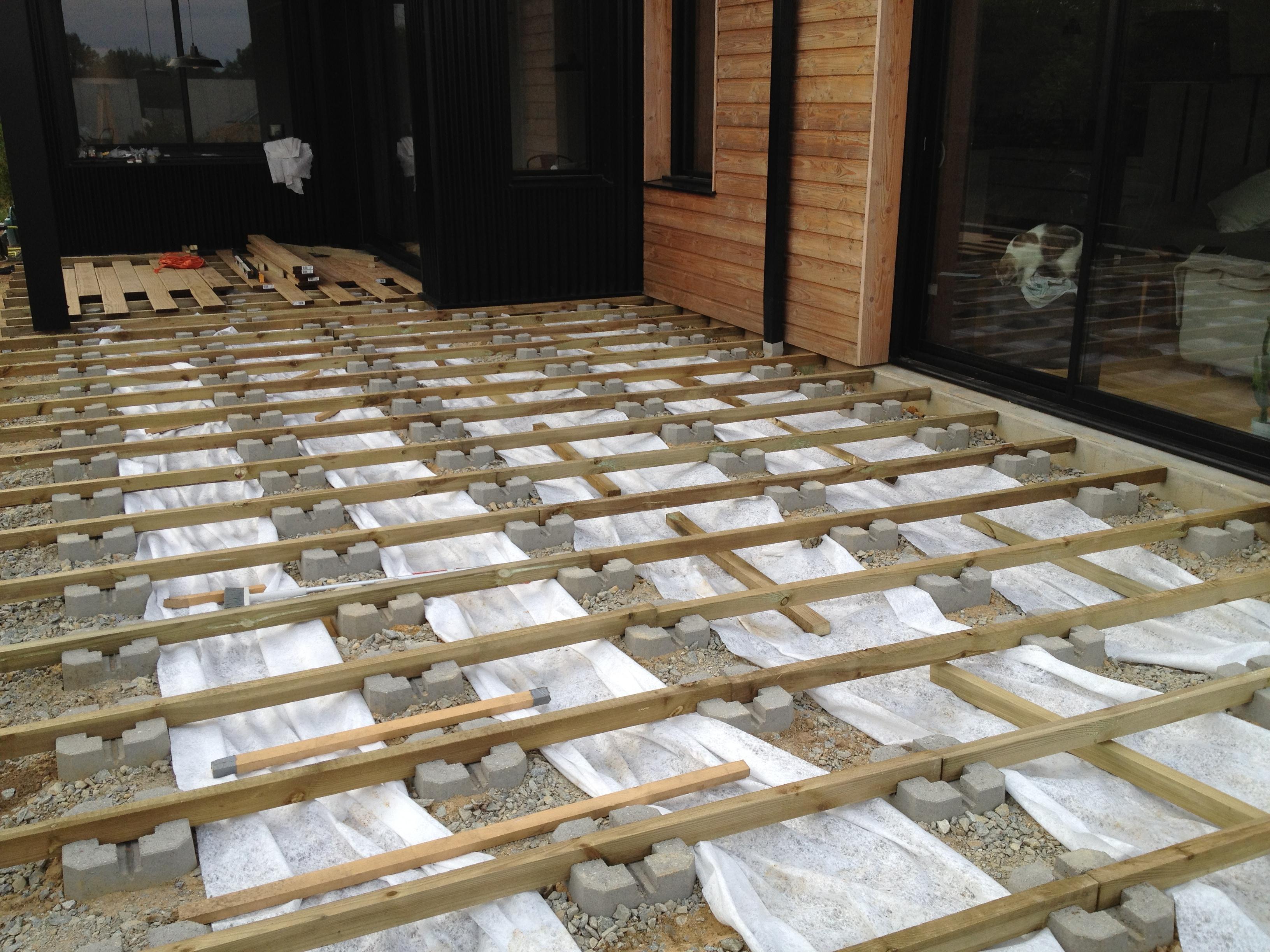 Faire Une Terrasse En Bois Sur Plot  Terrasse en bois sur plot