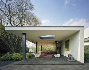 Terrasse couverte en dur