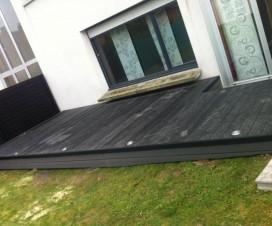 terrasse bois autour d une piscine hors sol. Black Bedroom Furniture Sets. Home Design Ideas