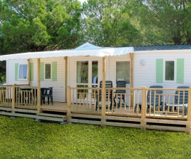 terrasse bois mobil home occasion 2