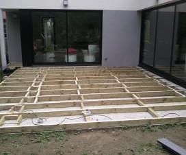 Terrasse bois composite chaleur - Terrasse bois sur dalle beton ...