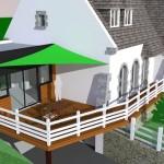 terrasse bois sur toiture zinc 6