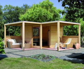 terrasse chalet jardin 1