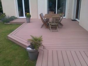 Terrasse composite sur dalle beton - Terrasse dalle sur sable ...