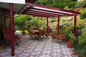 terrasse aluminium jardin. Black Bedroom Furniture Sets. Home Design Ideas