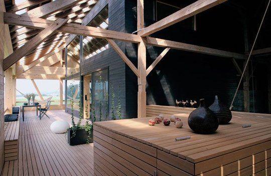 terrasse couverte maison ancienne. Black Bedroom Furniture Sets. Home Design Ideas