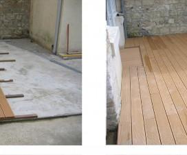 terrasse en bois composite sur dalle beton 1