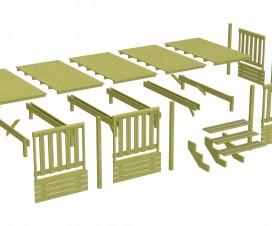 terrasse bois pour mobil home 1
