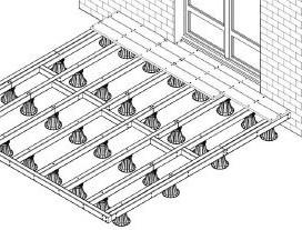 terrasse bois composite sur plots pvc 1