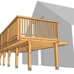 terrasse bois pilotis kit 5