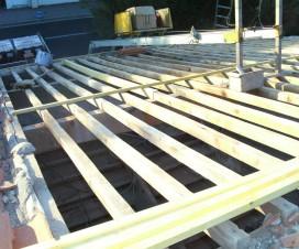 terrasse bois sur toiture zinc 1