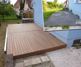 terrasse piscine ronde. Black Bedroom Furniture Sets. Home Design Ideas