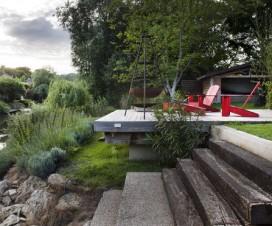 terrasse avec jardin en pente 1