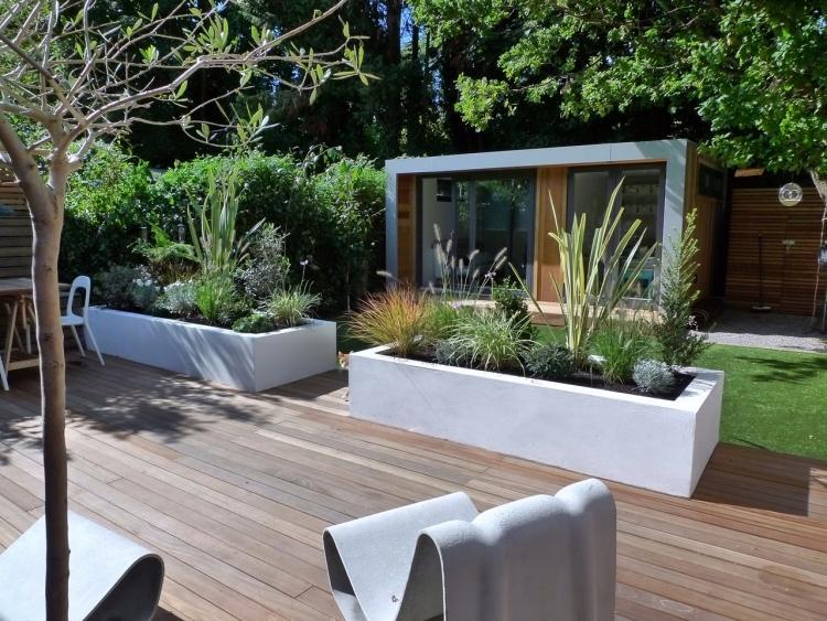 Terrasse Jardin Bois Composite Bois Bassdona
