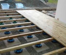 terrasse bois sur plot 1