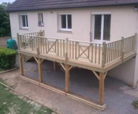 terrasse bois composite sur pilotis 1