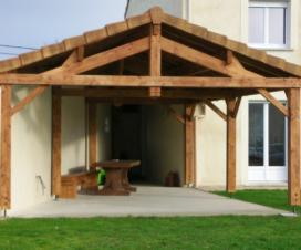 terrasse couverte charpente traditionnelle 1