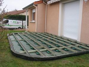 Terrasse composite ronde - Finition terrasse composite ...