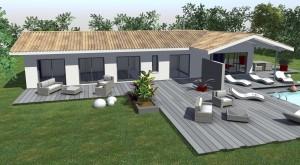 terrasse couverte maison. Black Bedroom Furniture Sets. Home Design Ideas