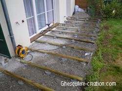 terrasse bois composite sur plots beton 1