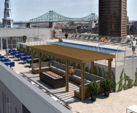 terrasse avec piscine montreal 1