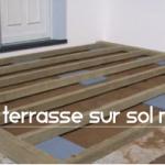 terrasse bois composite sur sol meuble 3