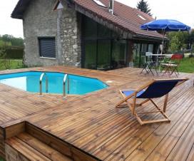 terrasse bois piscine octogonale 1
