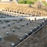 terrasse bois plot beton 1