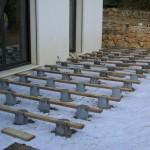 terrasse bois plot beton 4