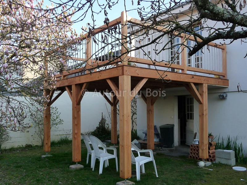 terrasse bois suspendue photo 3