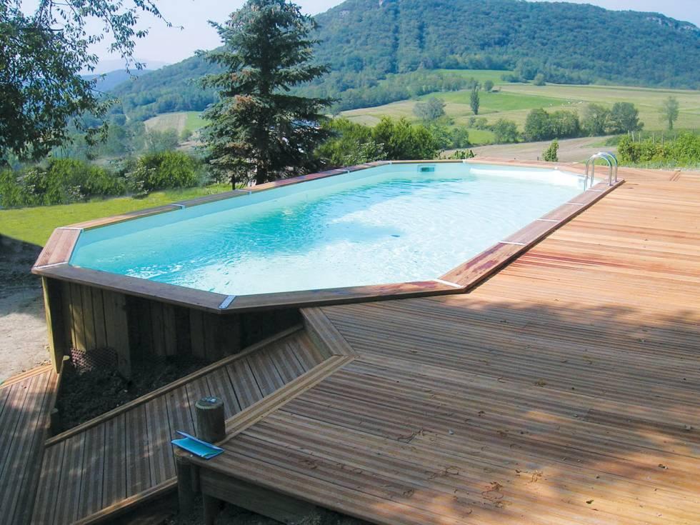 terrasse avec piscine en bois 1