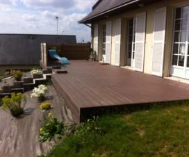 terrasse couverte en zinc. Black Bedroom Furniture Sets. Home Design Ideas