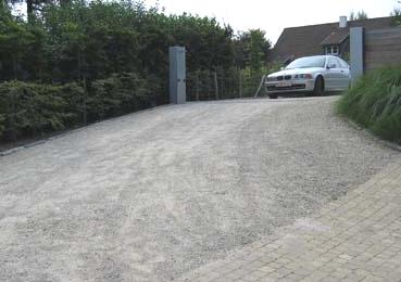 terrasse avec stabilisateur de gravier 2