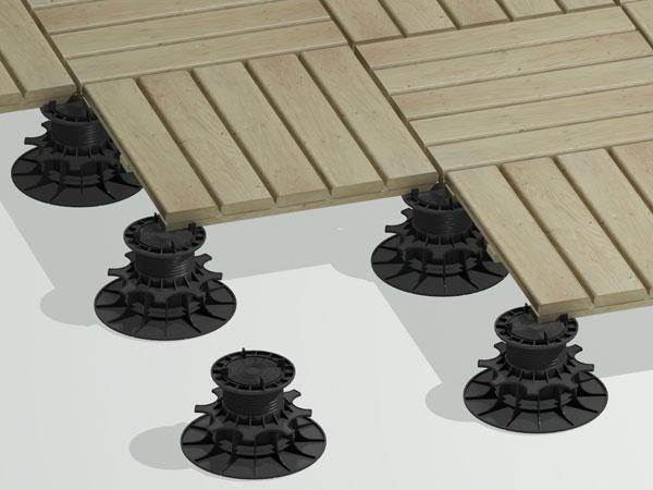 terrasse bois sur plot zoom 2
